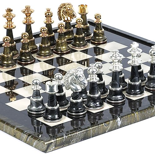 Bello Games Collezioni - Mancini Luxury Chess Set 24K Gold/Silver Plated from Italy (The Best Chess Game For Pc)