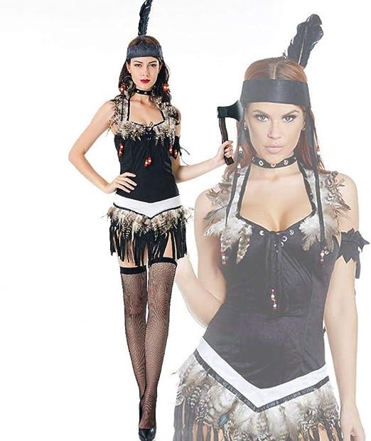 Yunfeng Halloween Bruja Disfraz para Mujer Aborígenes de Halloween ...
