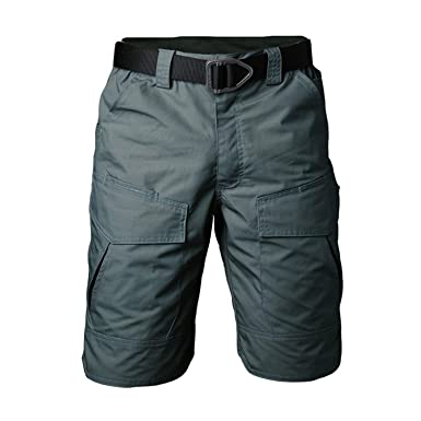 0e2a4acb1d AMAZING AMAZING Summer Military Camouflage Cargo Shorts Men Casual Multi  Pocket Waterproof Cotton Shorts,Army
