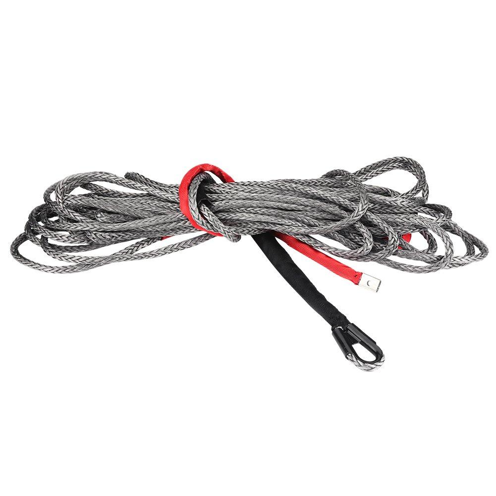 1/x 280/cm Cuerda de cabrestante syth/étique con Gancho l/ínea Cable de Remolque para ATV UTV SUV Veh/ículos Auto Zerone Cuerda de cabrestante Capacidad de Carga de 9300/kg