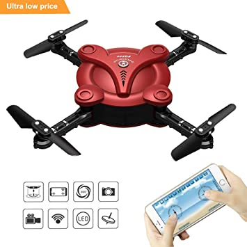 Mini Drone With Camera Zantec RC Flexible Foldable Aerofoils Quadcopter FPV And