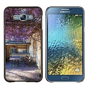 Stuss Case / Funda Carcasa protectora - Bâtiment Violet Summer Sun - Samsung Galaxy E7 E700