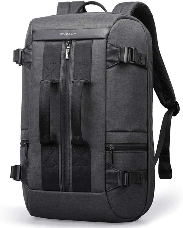 バックパック 大容量の多機能バックパックメンズファッショントレンドナップザックパーソナリティバッグメンズ学生スポーツとレジャーコンピューター旅行リュックサックkuygkjkg バッグ (Color : 黒) 黒