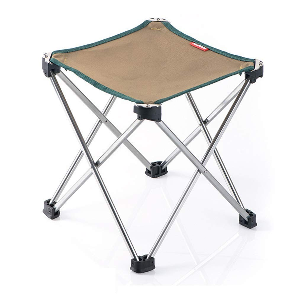 Folding Stool Light Portable Outdoor Folding Stool Aluminum Fishing Folding Chair Folding Stool (Color : Brown, Size : 252528cm)