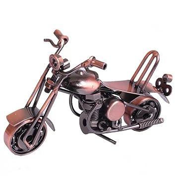 wolike motocicleta modelo mano soldadura hierro manualidades Retro modelo de motocicleta regalo preferido MT004, marrón, 16*7*9 cm: Amazon.es: Hogar
