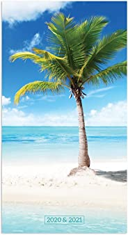2020-2021 Tropical Beaches 2-Year Small Pocket Planner Calendar