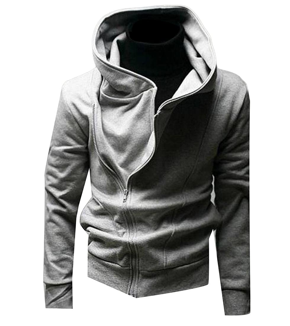 Freely Mens Hooded Breathable Solid Casual Hoodie Coat Jacket