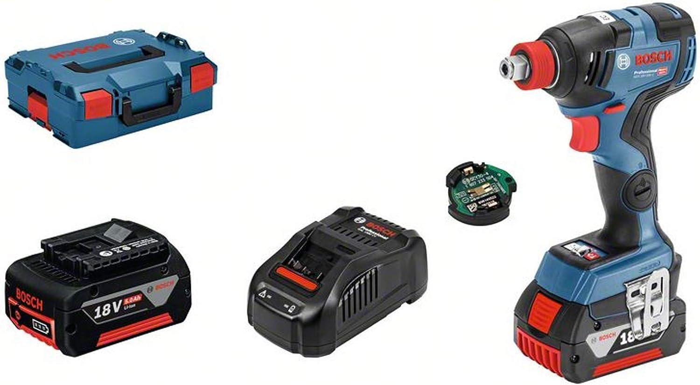 Bosch Professional GDX 18V–200 C - Llave de impacto a batería (18V, 200 Nm, módulo Connectivity, 2 baterías x 5.0 Ah, en L-BOXX): Amazon.es: Bricolaje y herramientas