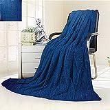 Custom Design Cozy Flannel Duplex Printed Blanket Navy Blue Photo of Oak Wood Texture Nature Style Vintage Decorative Artprint Home Royal Blue Lightweight Blanket Extra Big /W59 x H86.5