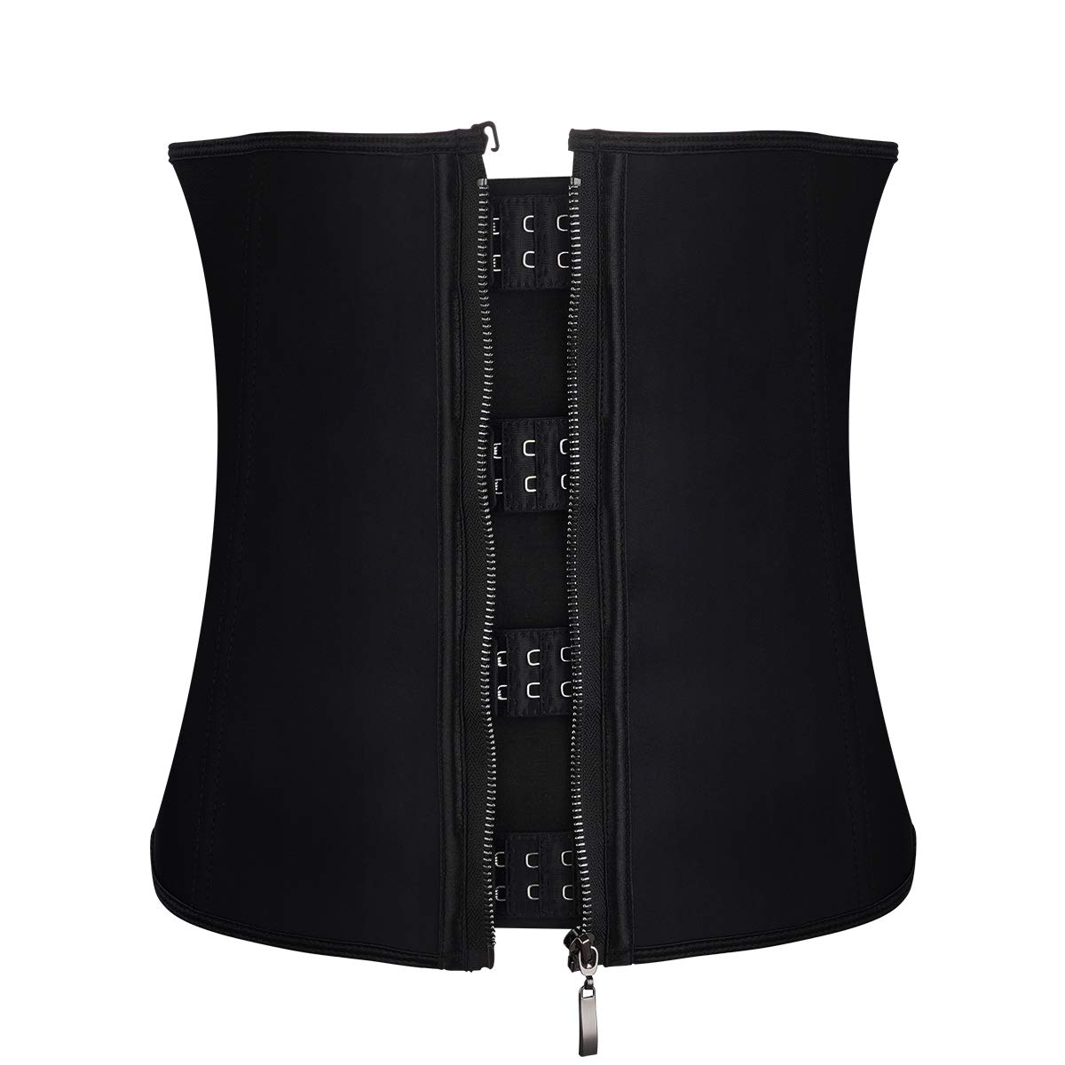 SUMEIYAN Womens Steel Boned Waist Trainer Belt with Zipper and Hooks for Weight Loss XS - 6XL(Black, 4XL)