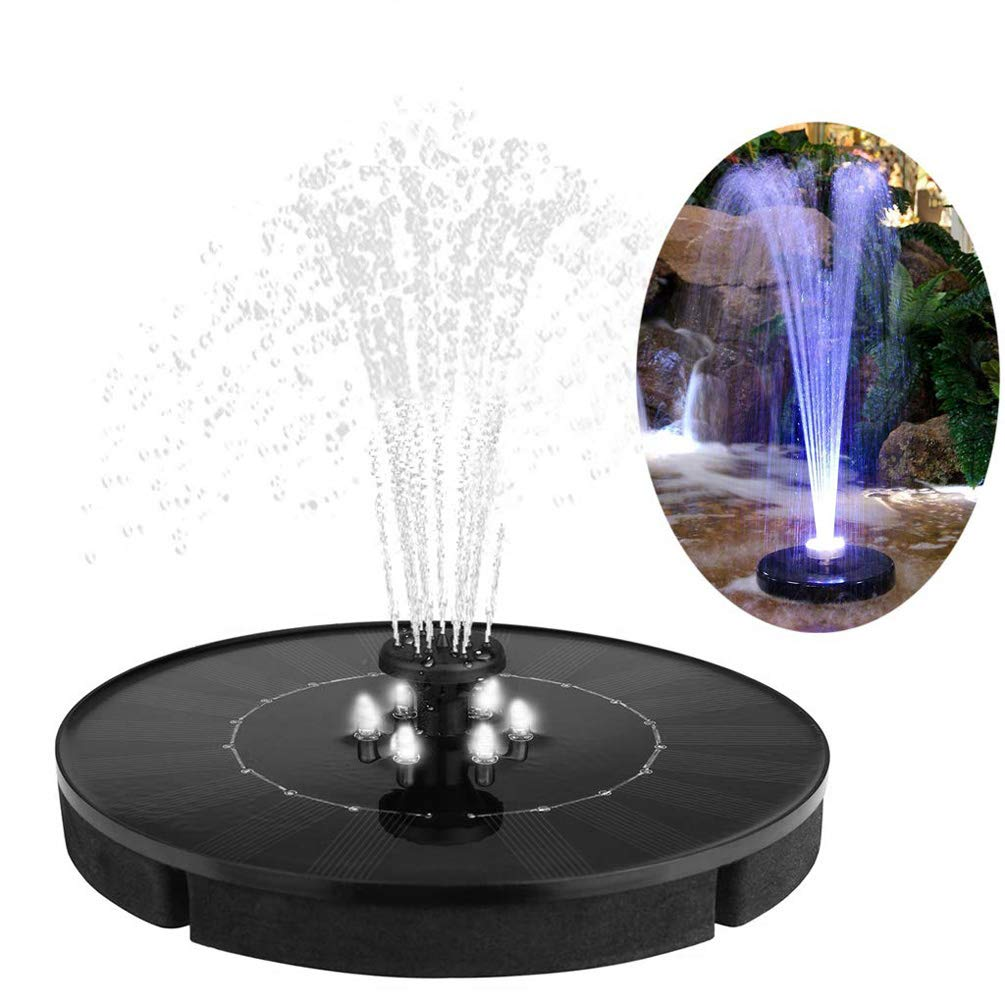Birdbath Fountain Pump Solar Powered Durable Easy to Install Outdoor Water Fountain for Bird Bath Lawn