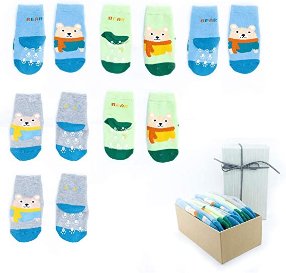 llamabanana/® 3 Pairs Crew Kids Socks Boys Girls Super High Quality Made in Europe Luxury Cotton Colourful With Gift Box