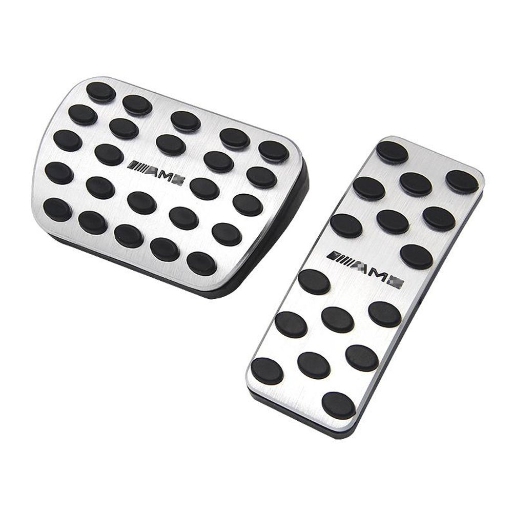 TCR No Drill Gas Brake Pedal For Mercedes Benz, AMG Sport Non Slip Foot Pedals Pad Cover For A B CLA GLA ML GLE R Class