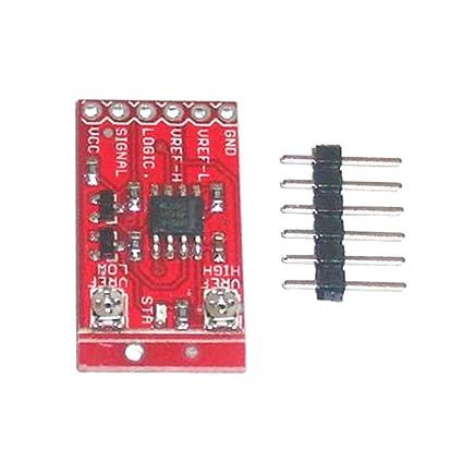 MagiDeal Lmv358 Ventana Comparador de Señal Amplificador Operacional Módulo Rojo para Ardiuno Herramientas