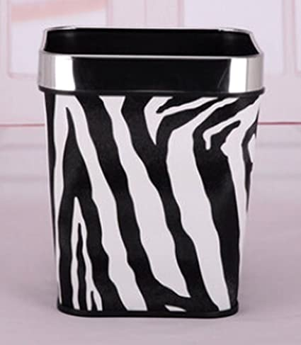 Zebra Print Trash Can Waste Basket 45cat Steve Penk And The Polkadots Itsy Bitsy Ie Weenie