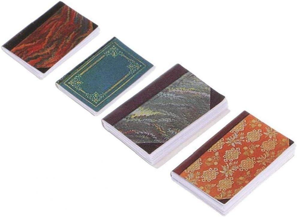 YaptheS 1//12 Casa De Mu/ñecas En Miniatura 4pcs Estudio Cuadernos De Colores De Decoraci/ón De Interior En Random