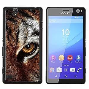 Queen Pattern - FOR Sony Xperia C4 - eye feline tiger fur cute cat big animal - Cubierta del caso de impacto con el patr???¡¯???€????€?????