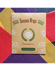 Bijenwas Food Wraps van Cambani Megapack van 8 (2 Small 2 Medium 2 Large 2 Extra Large) - Herbruikbare Eco Friendly Biologisch afbreekbaar