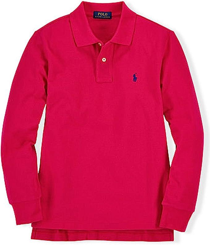 AS Roma Boys Childrens Long-Sleeved Polo Polo Shirt