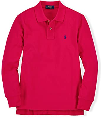 48dd534f2 Amazon.com: Ralph Lauren Baby Boys' Long Sleeved Polo Shirt: Clothing