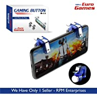RPM - Euro Games Metal Pubg l1r1 Mobile Gaming Controller Button triggers for Phone (Blue)