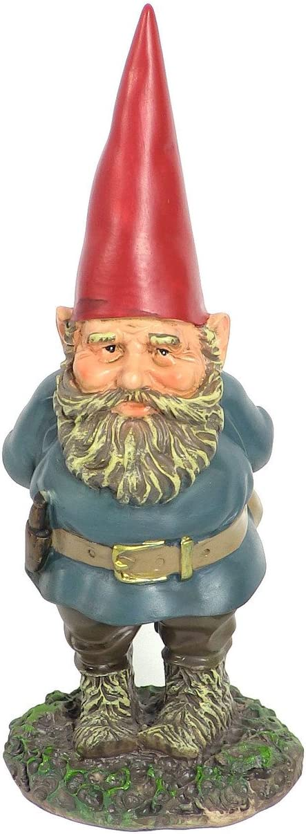 Sunnydaze Garden Gnome Gus The Original, Outdoor Lawn Statue, 9.5 Inch Tall