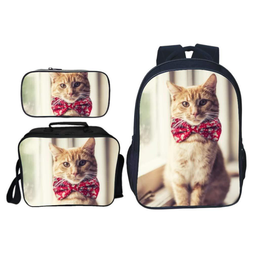 JKAINI Kinderrucksack Cute Pet Cat Cat Cat Printing Schultasche Rucksack Dreiteilig,F-OneGröße B07MX9Y4Q5 Kinderruckscke König der Quantität 0cba35