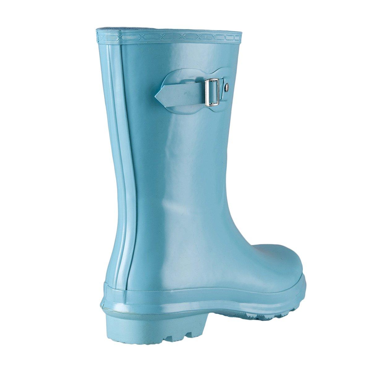 WTW Womens Original Short Gloss Rubber Rain Boots for Girls Rainy Day CHN-28-10 US