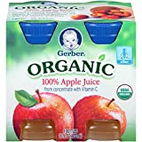 organic apple juice gerber - Gerber Organic Juice, Apple, 4 pk, 16 oz