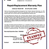 PIE Model RP-WAR-B 3 Year Repair/replacement Warranty for models 820, 820Elite, 830, 850, 525B, 535
