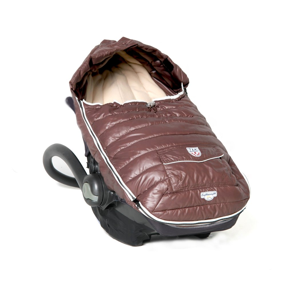 7AM Enfant Baby Shield Extendable Baby Bunting Bag Adaptable for Strollers, Marron Glace, Small
