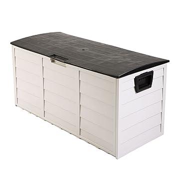 Tobbi al aire libre Patio cubierta caja de almacenamiento de garaje cobertizo Patio jardín caja de herramientas contenedor: Amazon.es: Jardín