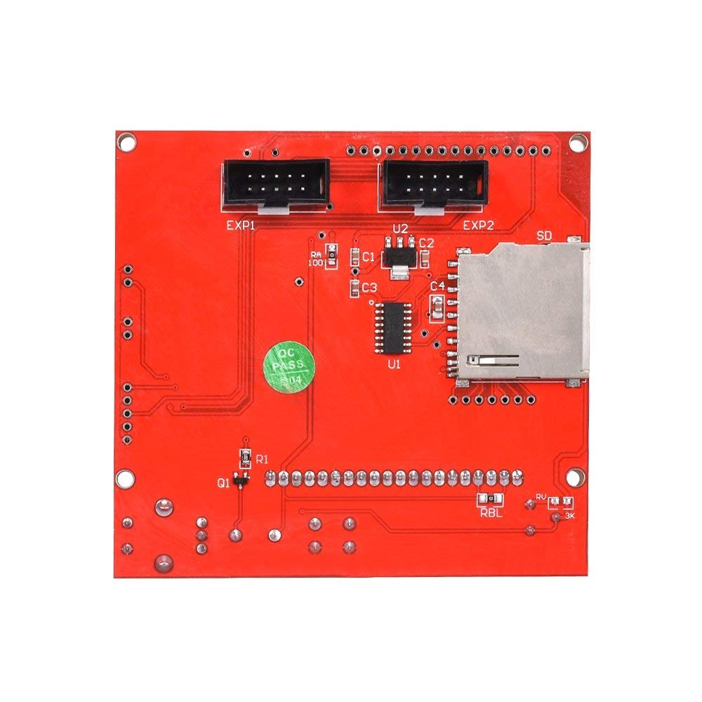 Placa de control de pantalla LCD gr/áfica con adaptador y cable para impresora 3D Ramps 1.4 RepRap Mendel Prusa Arduino Triggo 12864