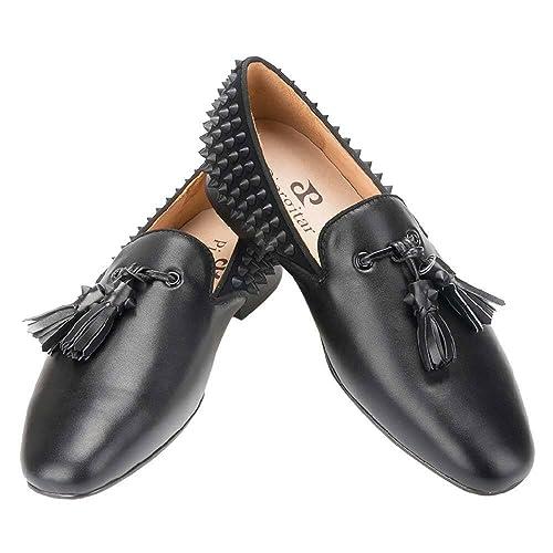 PIERGITAR - Mocasines para Hombre Negro Negro: Amazon.es: Zapatos y complementos