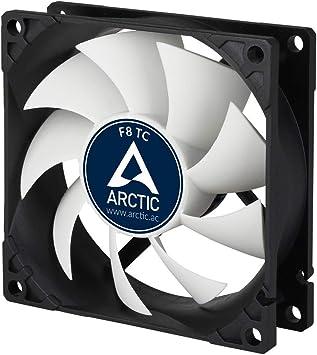 ARCTIC AFACO-080T0-GBA01 – Ventilador caja estandar 80 mm, con tª controlada, sensor para regular la temperatura RPM, posibilidad de instalar en dos direcciones: Amazon.es: Informática