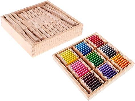perfeclan Juguete Montessori de Madera, lanzadera de Conteo de Númneros + Trajetas de Cognición de Colores Niños: Amazon.es: Juguetes y juegos