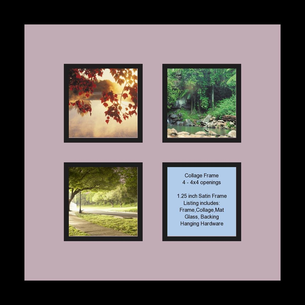 Amazon.de: arttoframes Collage Fotorahmen Rahmen Doppel-Matte mit 4 ...