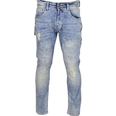 0f1840c66 883 Police - Jeans - Slim - Homme Délavé Clair - - 32W x 30L: Amazon ...