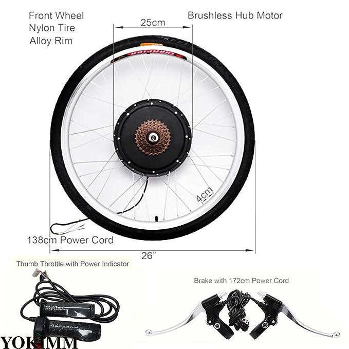 Z&Y nuevo eléctrico Juego de reparación de bicicleta 26 pulgadas Rueda trasera Pedelec Conversion Kit 36 V 25 Km: Amazon.es: Deportes y aire libre