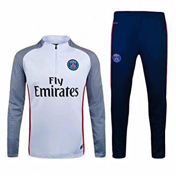 c50d9c0c5ac 2016 2017 Paris Saint Germain FC Official Football Soccer Jersey Training  Jacket Pants Tracksuit Set In White Grey  Amazon.co.uk  Sports   Outdoors