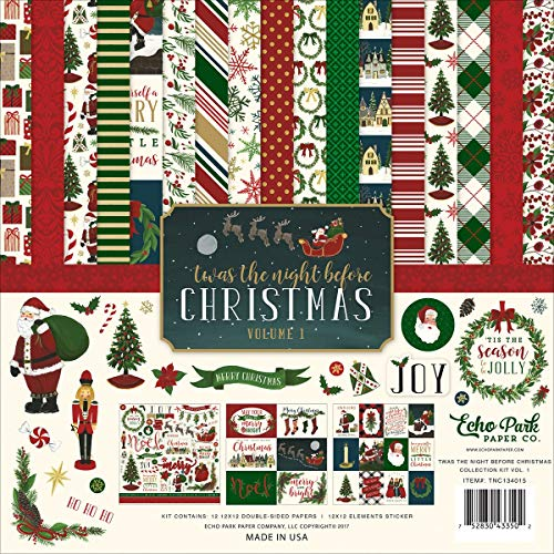 Echo Park Paper Company Night Before Christmas Collection Kit Vol. 1