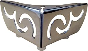 Hyever Metal Furniture Feet TV Cabinet Sofa Legs Chrome Finish Set of 4