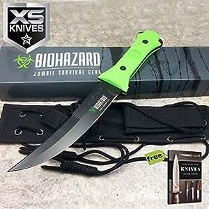 Amazon.com: Cuchilla fija de caza BIOHAZARD Zombie de 13 ...