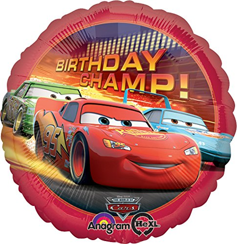 HX CARS BDAY CHAMP FOIL – PACKAGED. (Lighting Mcqueen Costume)