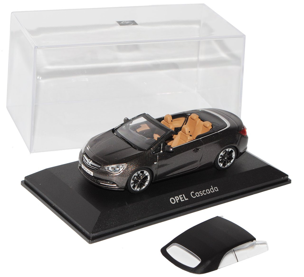 Minichamps Opel Cascada Asteroid Grau Cabrio Offen mit Soft Top 1/43 Modell Auto
