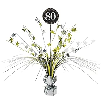 80th Birthday Spray Centrepiece Table Decoration Age 80 Party