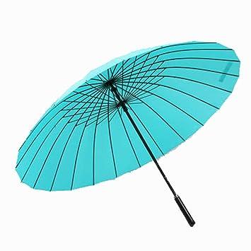 SFSYDDY-Macho Y Hembra Paraguas Mango Largo Paraguas Paraguas Manual 24 Huesos Persona Super Grande