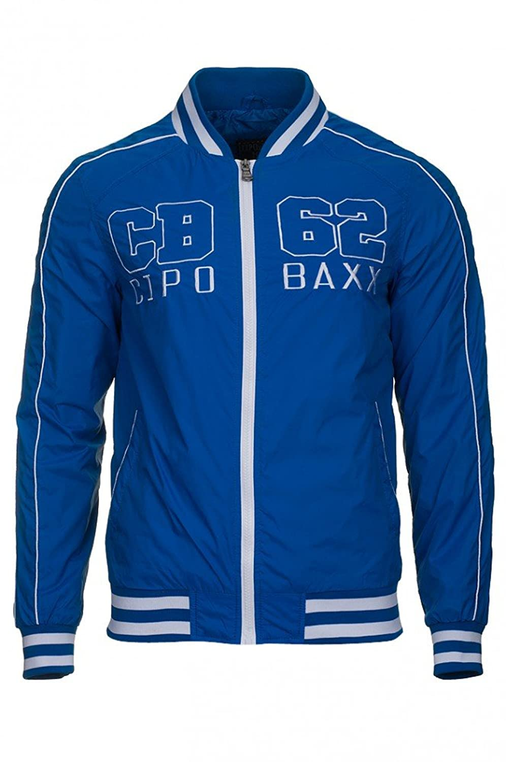 CIPO & BAXX Men's Bomber Jacket Blue C-7325