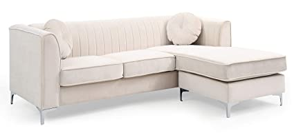 Glory Furniture Delray G797B-SC Sofa Chaise, Ivory. Living Room Furniture 32