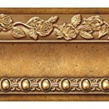 Tools & Hardware : Flower Molding Peel and Stick Wall Border Easy to Apply (Gold Brown)
